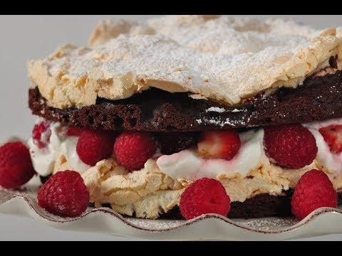 Chocolate Meringue Cake Recipe Demonstration - Joyofbaking.com