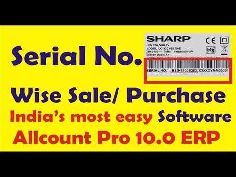 Serial Number Wise Sale Purchase In All Count Pro ERP Software