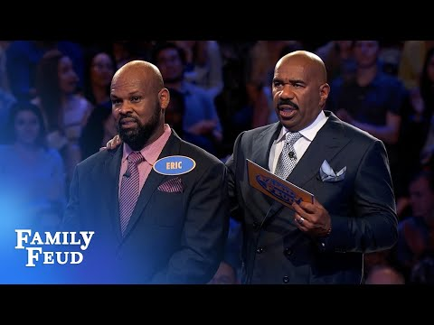 Family Feud vs. Nacy Gets 148 Points! vs. Can Eric Seal The Deal?