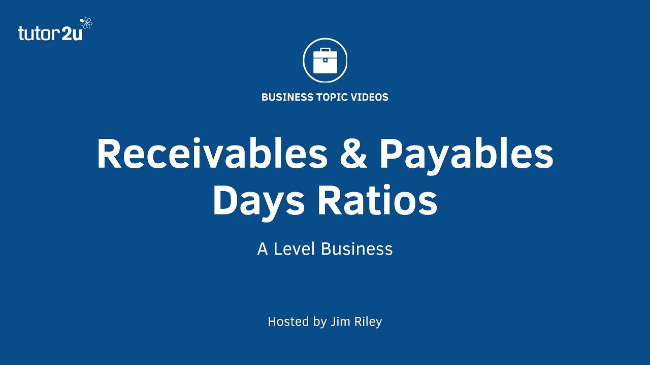 Creditor (Payables) Days   Business   tutor2u