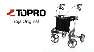 Produktvideo zu Topro Troja Original Leichtgewicht-Rollator Größe M Silber