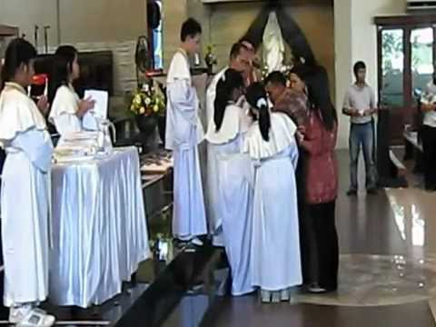 Penerimaan Sakramen Baptis di Paroki Santo Yoseph Plaembang pd Sabtu 19 Mei 2012.
