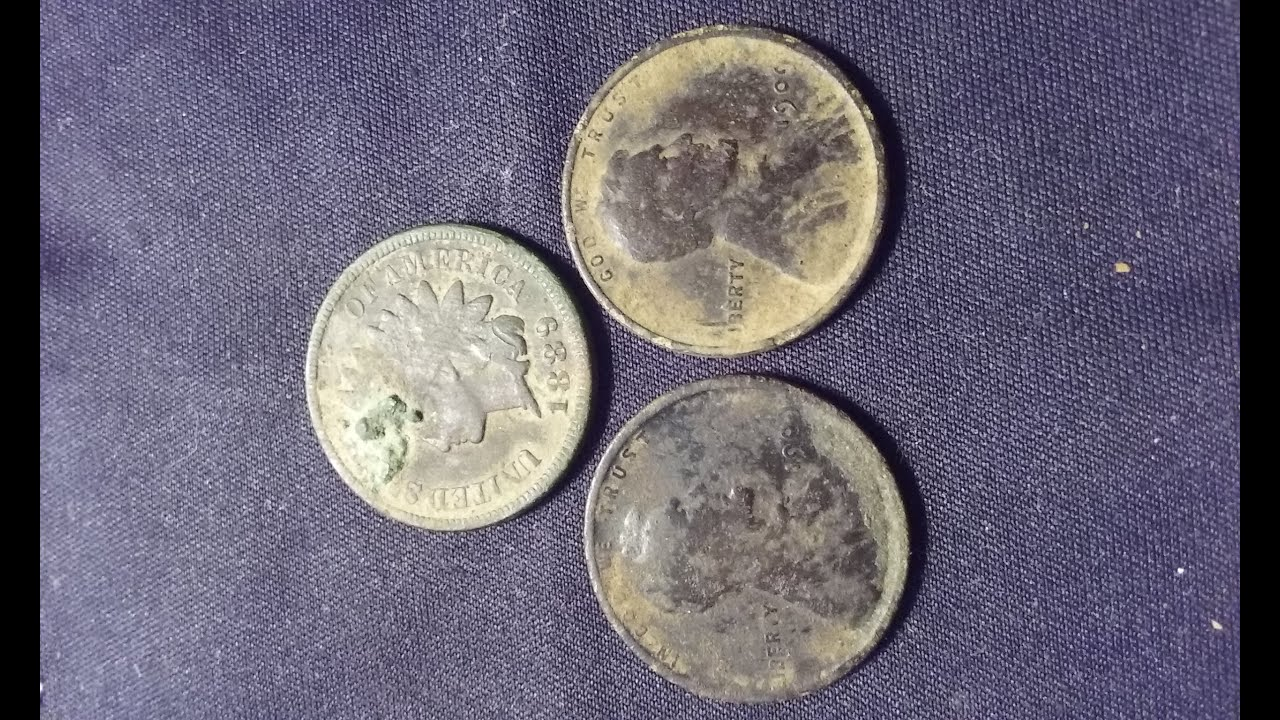Hydrogen Peroxide cleaning coins found detecting