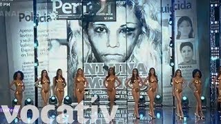 Video Miss Peru 2018 Contestants Speak Out On Gender Violence Instead Of Body Measurements download MP3, 3GP, MP4, WEBM, AVI, FLV Mei 2018