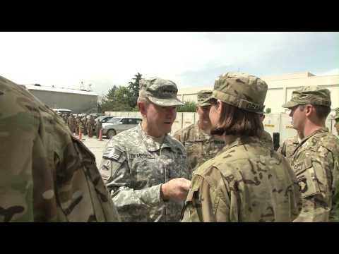 General Dempsey Visits Bagram Airfield, Afghanistan