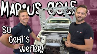 So geht`s an Marius VW Golf 2 VR6 Turbo weiter! - Unterboden / Kraftstofftank | Philipp Kaess |