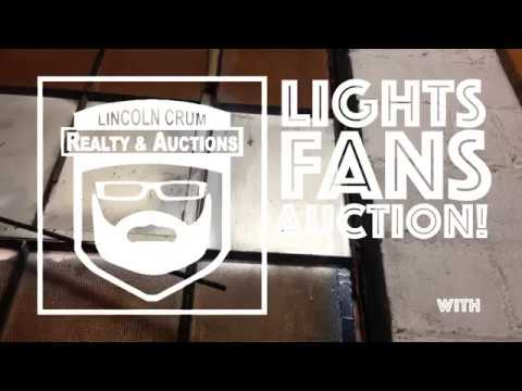 lights fans auction lincoln crum auctions jeffersonville