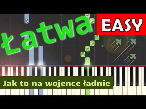 🎹 Jak to na wojence ładnie - Piano Tutorial (łatwa wersja) 🎹