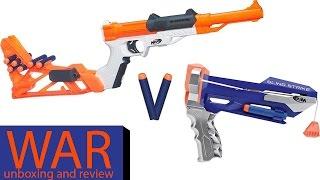 Nerf SHARPFIRE vs SLINGSTRIKE Unboxing and Review WAR!