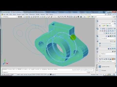 AutoCAD 3D Modelling - Flatshot Command - 2D from 3D
