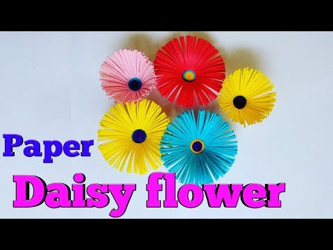 DIY crafts : Paper Daisy flower | How to make paper Daisy flowers easily?