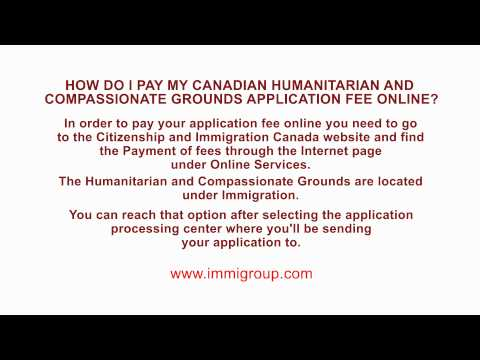 How do I pay my Humanitarian and Compassionate Grounds application fee online?