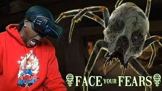 BEWARE ARACHNOPHOBES...DON'T LOOK AT IT |  Face Your Fears VR Creepy Crawlies