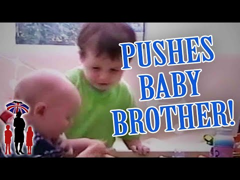 Supernanny   Jealous Boy Pushes Baby Brother Over!