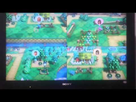 Jugando Nintendo Land en WiiU mini juego Animal Crossing