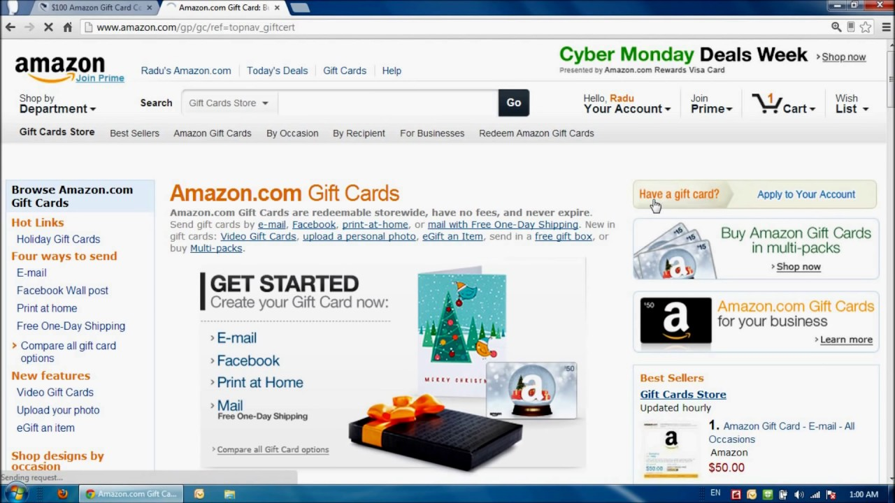 How to redeem your amazon gift card giveawayhub winners youtube how to redeem your amazon gift card giveawayhub winners magicingreecefo Image collections