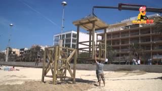 Neuer Rettungsturm am Ballermann 2
