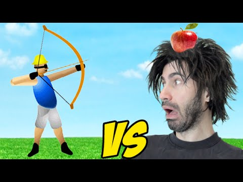 APPLE SHOOTER vs The World's Worst Gamer!