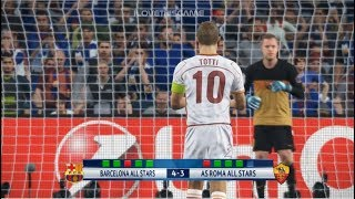 Barcelona All Stars vs AS Roma All Stars I Uefa Champions League I PES 2018 Penalty Shootout