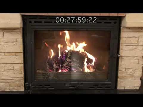 Как горят топливные брикеты RUF (хвоя)