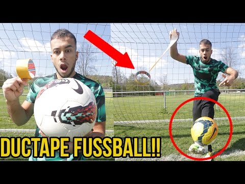 DUCTAPE FUSSBALL EXPERIMENT!!