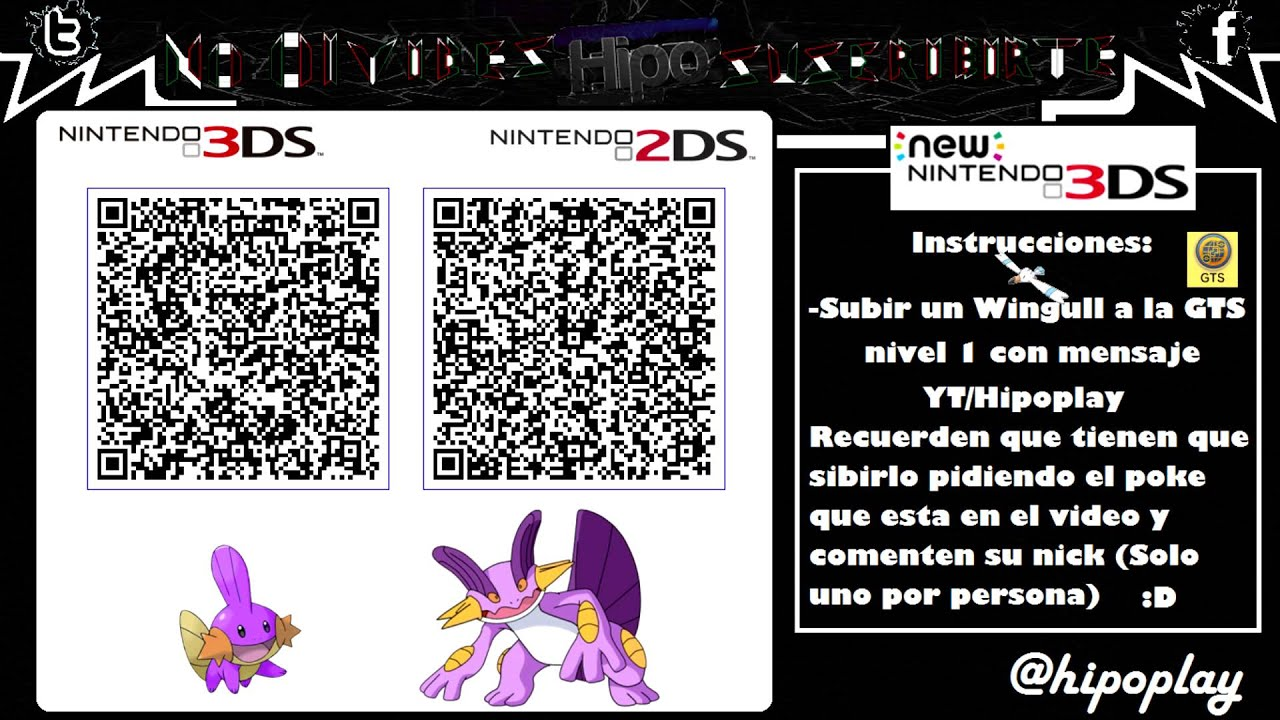 Terminado Code Qr Swampert Amp Mudkip Shiny Pokemon Xy Oras Youtube