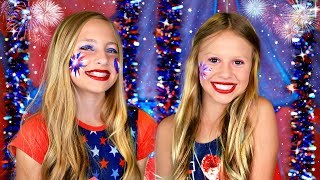 4th of July Makeup and Dress Up