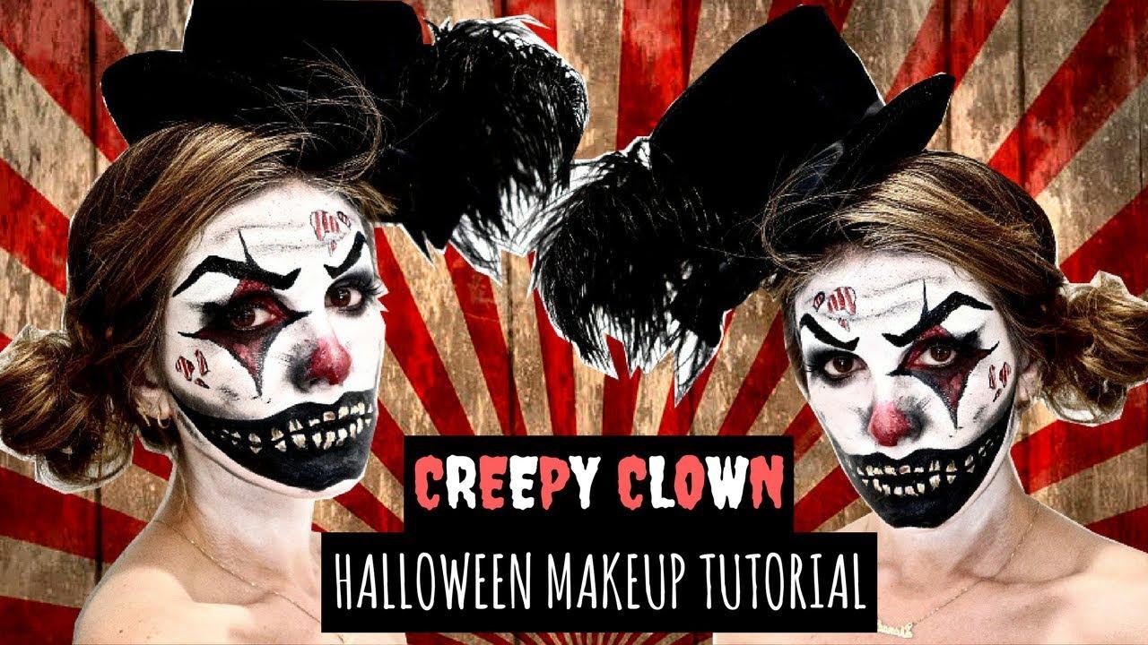 CREEPY CLOWN Halloween Makeup Tutorial + DIY Costume Ideas | SHENAE GRIMES-BEECH & CREEPY CLOWN Halloween Makeup Tutorial + DIY Costume Ideas | SHENAE ...