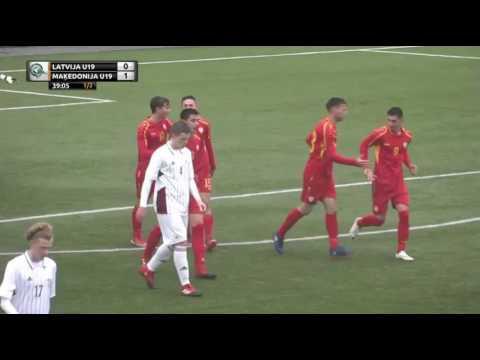"""У18 - Летонија - МАКЕДОНИЈА 1-3 (Турнир """"Четири нации"""" во Рига)"""