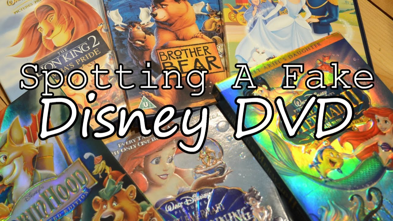 Disney Dvds   How To Spot A Fake  Copy