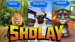 Cartoon Comedy Sholay Movie Gabbar Shambha Basanti funny videos