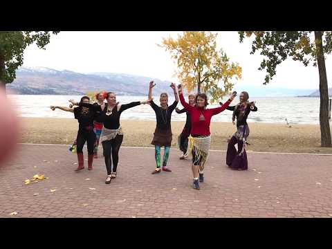 ATS Flash Mob World Wide 2017  Kelowna, Canada ~ Hibiscus Tribal Bellydance