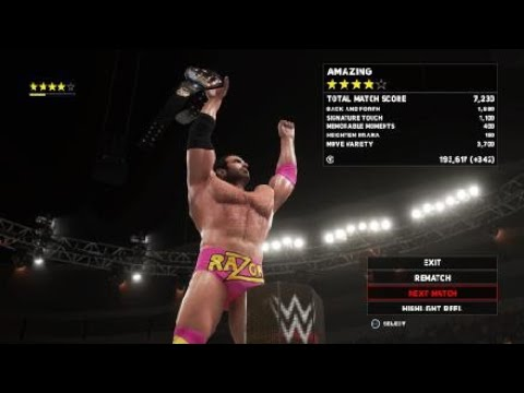 WWE 2K18 Bobby Roode Vs Razor Ramon United States Championship No Holds Varred