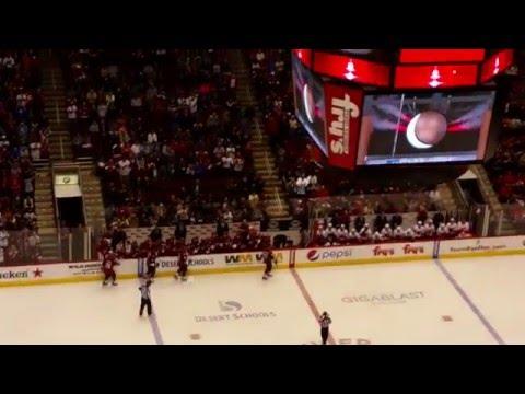 Oliver Ekman-Larsson power play goal vs Calgary 2-12-16