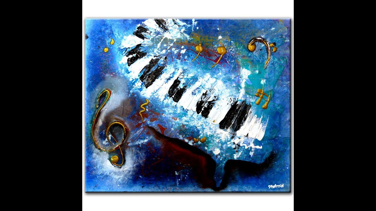 Abstract Painting Piano And Music Painting Tips And Techniques By Dranitsin Youtube