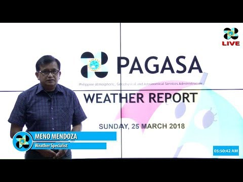 Public Weather Forecast Issued at 4:00 AM March 25, 2018