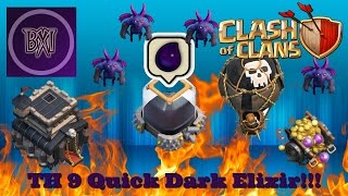 Clash of Clan (COC): Town Hall 9 (TH9) Dark Elixir (DE) Farming Strategy