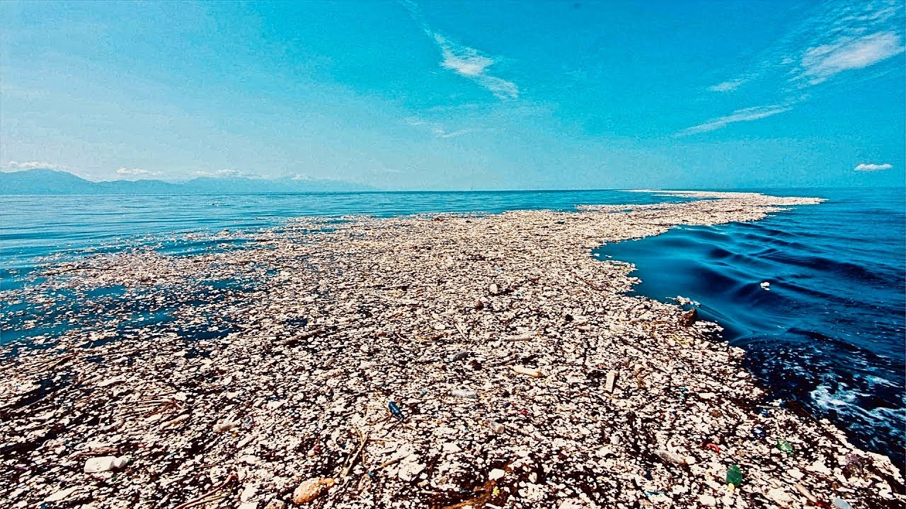 Disgusting Mass Of Plastic Waste Ruining The Caribbean Sea Youtube