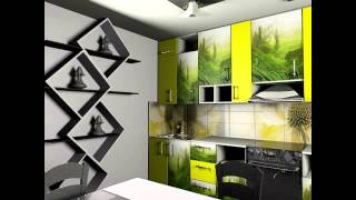 дизайн кухни с креативным оформлением стен(, 2015-07-06T09:50:50.000Z)