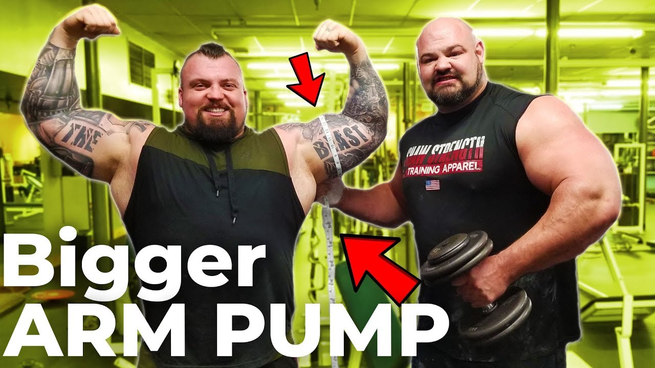Epic Strongman Arm Day With Eddie Hall Who Can Get A Bigger Pump Youtube Strongman Eddie Hall World S Strongest Man