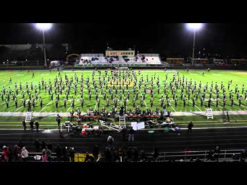 Marching Patriots 10-16-2015 Part I. Adlai E Stevenson High School Full Band Half-time Show