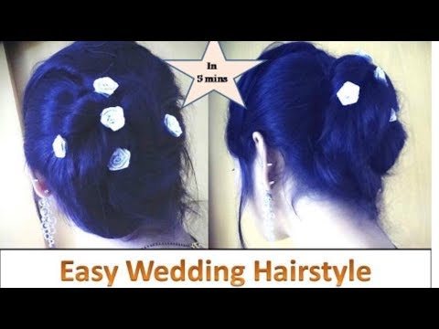 Easy Hairstyle for Wedding Season | PARTY HAIRSTYLE | Quick Updo for Medium Hair