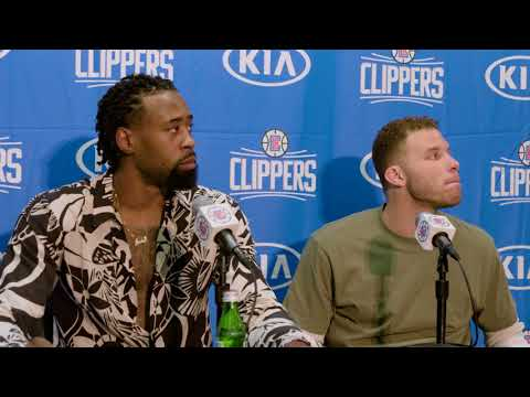 Blake Griffin & DeAndre Jordan Press Conference - Clippers vs Jazz 10/24/17