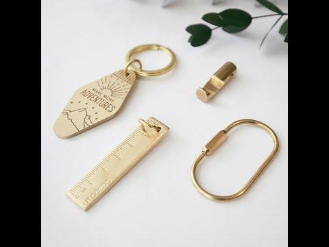 質感隨身 黃銅組合鑰匙環