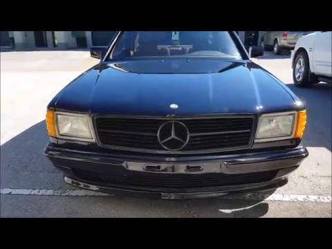 1987 Mercedes 560 SEC S Coupe Drive and Review