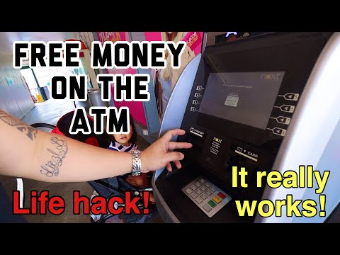 HOW TO GET FREE MONEY ON ATM   LIFE HACK  