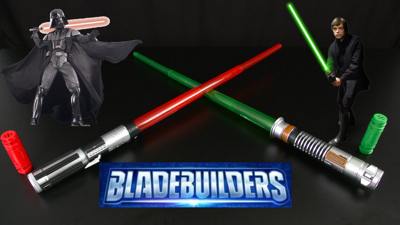 Star Wars Bladebuilders Electronic Lightsabers From Hasbro Youtube