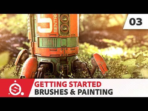 Substance Painter 2021 Getting Started - Part 03 - Brushes & painting