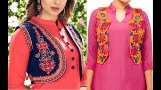 Jacket drafting tutorial Part 1/How to make kurti jacket in hindi/Latest jacket style kurti