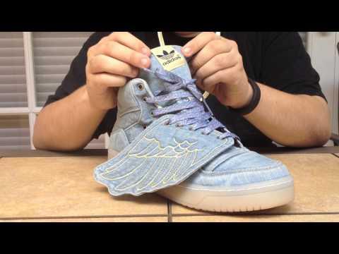 Adidas Jeremy Scott Wings - Denim - YouTube